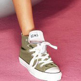 Ножкам удобно в кедах цвета хаки